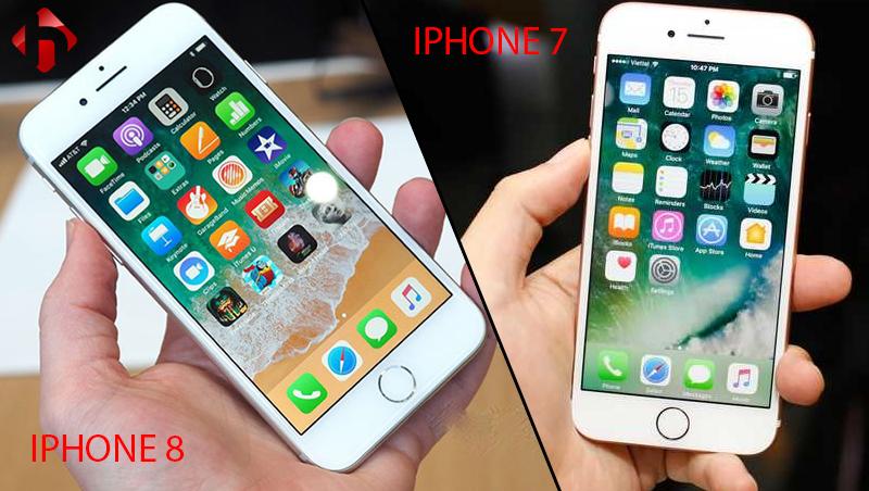 thiết kế mặt trước iphone 7 vs iphone 8