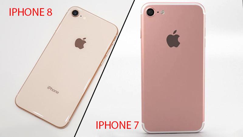 thiết kế mặt lưng trên iphone 8 và iphone 7