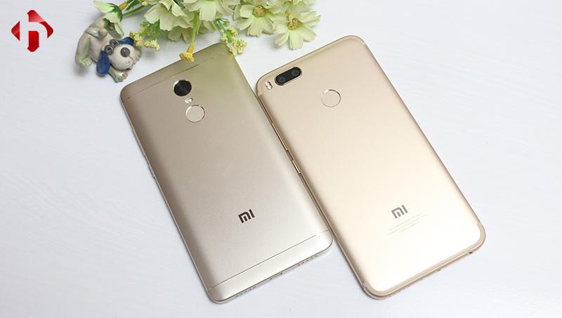thiết kế Xiaomi mi 5x vs Xiaomi Redmi Note 4x