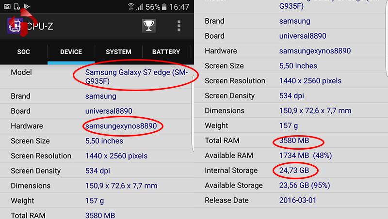 Thông số thiết bị qua phần mềm CPU-Z