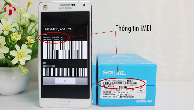 Thông tin IMEI phải trùng khớp