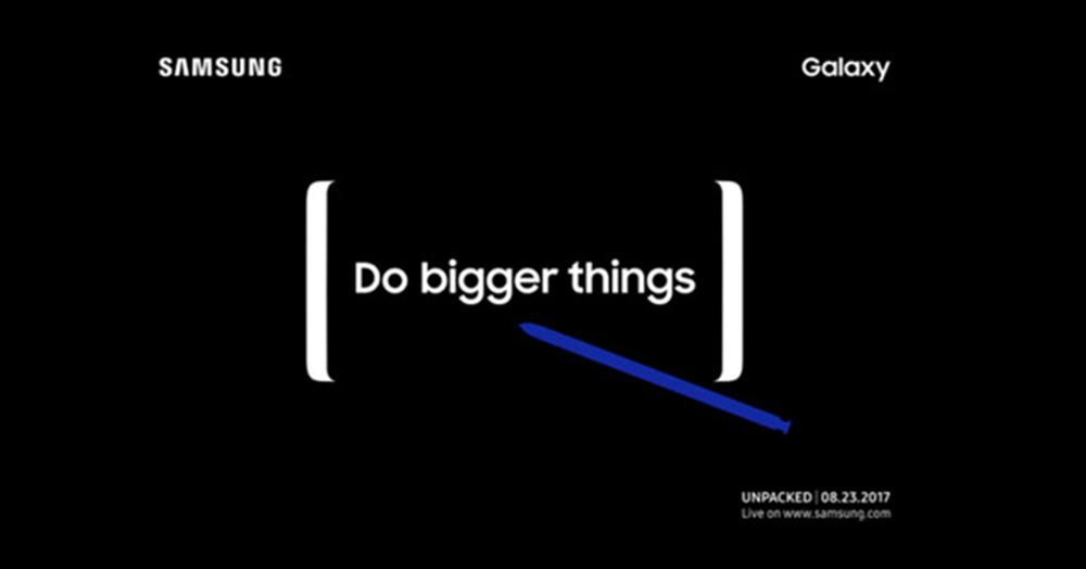 thư mời dự sự kiện ra mắt Galaxy Note 8