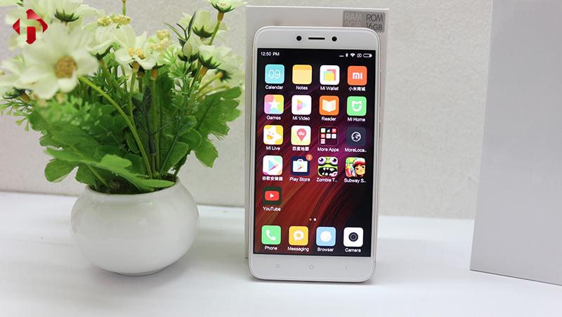 Thiết kế mặt trước Xiaomi Redmi 4X